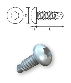 Pan Head Self-Drilling Screws –T-Drive – Form N
