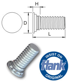 TR Hank® Self-Clinch Studs for stainless steel - Metric
