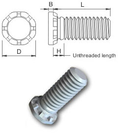 Non Flush Hi Strength Stud - Metric