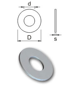 Metric washers - Form D