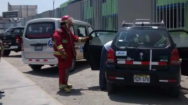 Fuga de gas generó alarma en colegio de Chiclayo