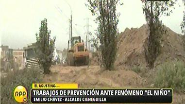 El Agustino: inician limpieza de ribera del Rímac por El Niño