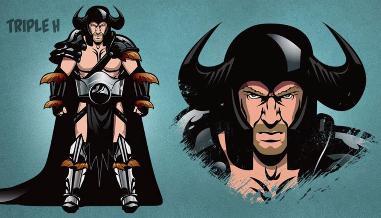 WWE: así lucirían los luchadores de ser superhéores de cómics