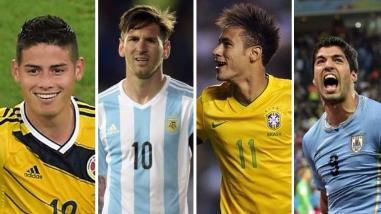 Lionel Messi, Neymar, James y las grandes ausencias de las Eliminatorias