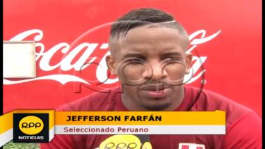 Jefferson Farfán: Estar al cien por ciento ante Colombia es complicado