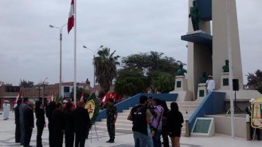 Lambayeque: autoridades rinden homenaje a Miguel Grau y Marina de Guerra