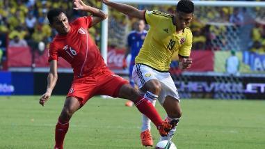 Perú cae 1-0 ante Colombia en su debut en las Eliminatorias Rusia 2018