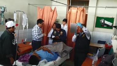 Cuatro heridos en despiste y vuelco de camioneta en Chivay