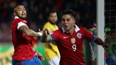 Chile arrancó con pie derecho las Eliminatorias venciendo por 2-0 a Brasil