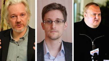 Assange cree que él, Snowden y Dotcom son víctimas de
