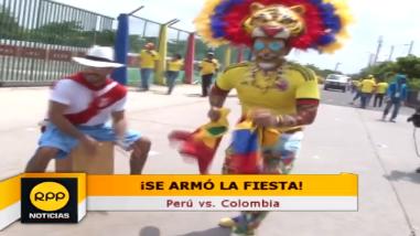 Perú vs. Colombia: hinchas peruanos y colombianos le pusieron color a la previa