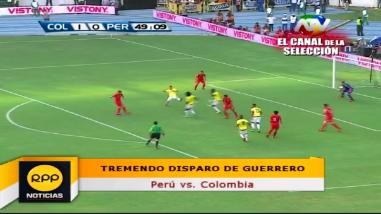 Perú vs. Colombia: Paolo Guerrero y el remate que dejó estático a Ospina