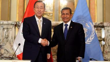Ban Ki-moon: Perú avanzó notablemente bajo el liderazgo de Ollanta Humala