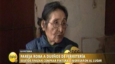 La Victoria: asaltantes roban 140 mil soles a pareja de ancianos