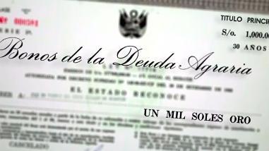 Perú podrá ser demandado por pago de bonos de la reforma agraria
