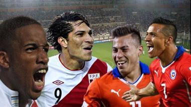 Perú vs. Chile: estadísticas de Farfán y Guerrero ante Sánchez y Vargas
