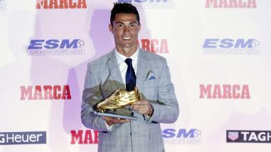 Cristiano Ronaldo recibe su cuarta Bota de Oro y ya piensa en la quinta y sexta