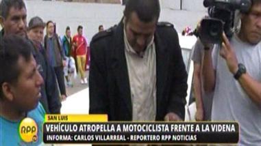 Motociclista resultó herido en accidente frente a la Videna