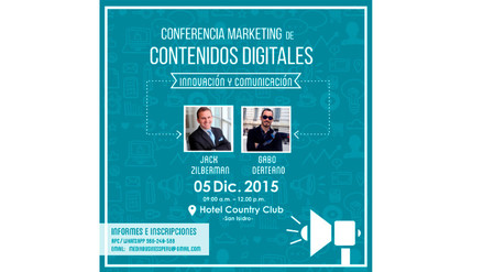"Conferencia de marketing en contenidos digitales ""Innovación y Comunicación"""