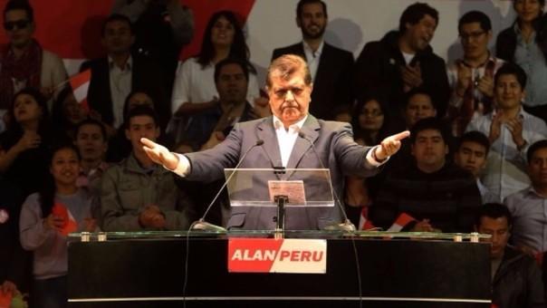 Alan García: Ningún felón y delincuente puede decir que el Apra es corrupto