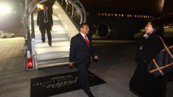Ollanta Humala llegó a Francia para participar en cumbre COP 21