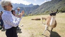 Christine Lagarde del FMI recorrió Machu Picchu y Pisac
