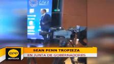 Sean Penn sufrió un pequeño accidente en Junta de Gobernadores