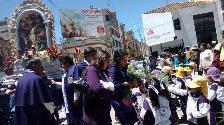 Puno: niños participaron de primer recorrido procesional del Señor de los Milagros