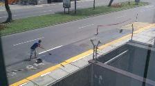 Lince: vecino pinta la pista sin autorización