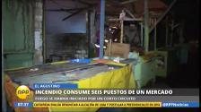 El Agustino: Incendio consumió varios puestos en mercado