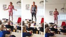 YouTube: Profesora holandesa dicta clases de anatomía de manera original