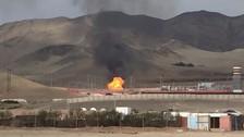 Chilca: un fuerte incendio se registra producto una fuga de gas