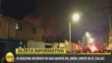 Callao: Incendio consume una quinta del jirón Loreto