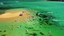 YouTube: Areia Vermelha, la playa brasileña que aparece y desaparece