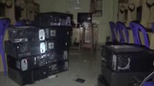 Huancayo: serenos frustran robo de 12 computadoras a cabina de internet