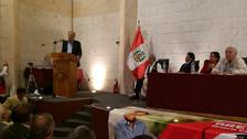 Candidato presidencial de Acción Popular llegó a Arequipa