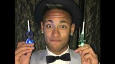Neymar celebró cumpleaños con su padre y su hijo Davi Lucca (FOTOS)
