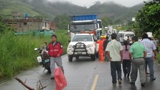 Satipo: transportistas solicitan construcción de badén tras colapso de vía