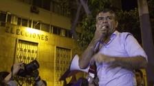Julio Guzmán encabezó marcha de TPP hacia el JNE tras fallo adverso