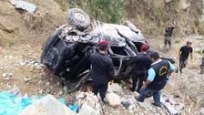 Tres muertos y dos heridos tras despiste y vuelco de minivan