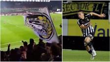 Facebook: Cristian Benavente fue ovacionado por la hinchada del Royal Charleroi (VIDEO)
