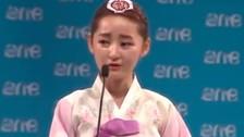 Joven norcoreana: