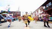 Se realiza concurso de danzas en honor a la Virgen de la Candelaria