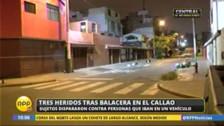 Callao: nueva balacera deja tres heridos, entre ellos dos menores