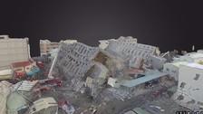 Taiwán: transforman la zona del terremoto en modelo de realidad virtual