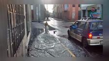 Arequipa: Grifo de bomberos desperdicia agua