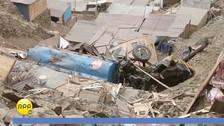 Siete familias se salvan de morir tras caída de camión cisterna