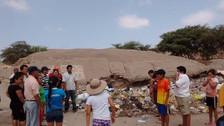 Pobladores exigen erradicación de basura de Huaca Arqueológica