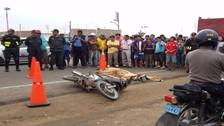 Joven falleció tras estrellarse con su moto en Panamericana Sur