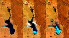 Twitter: satélite captó la evaporación del segundo lago más grande de Bolivia